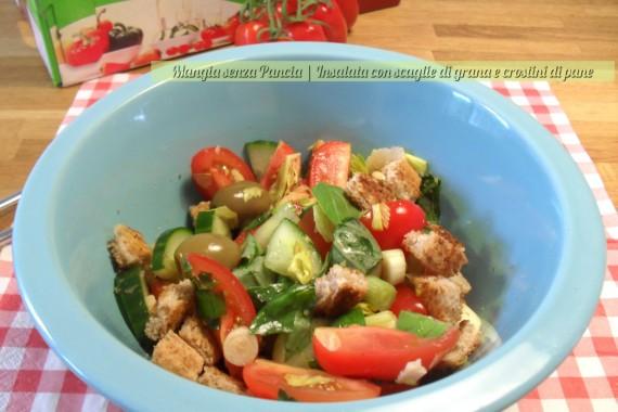 Insalata con scaglie di grana e crostini, diario di una dieta - Giorno 447, Mangia senza Pancia