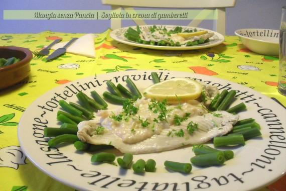 Sogliola in Crema di Gamberetti, Punti Weigh Watchers Pesce Molluschi Crostacei, Mangia senza Pancia