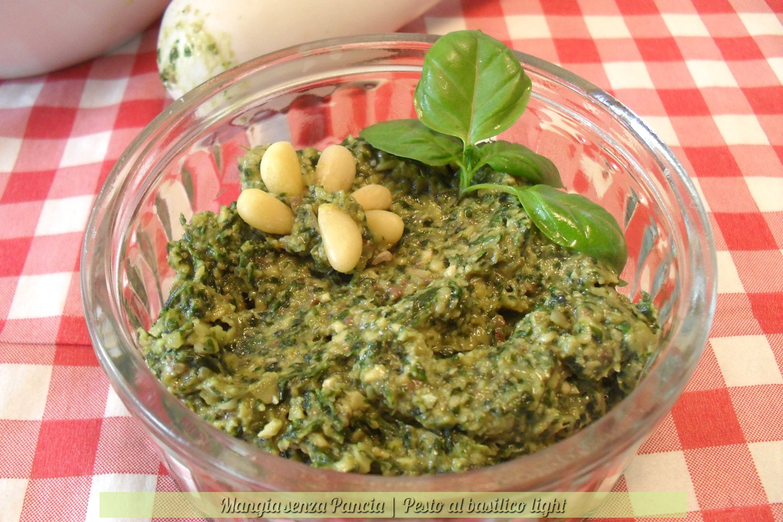 Pesto di basilico light, ricetta di base, Mangia senza Pancia
