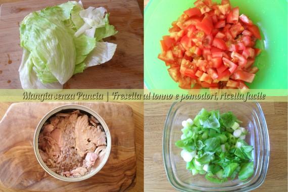 Fresella tonno e pomodoro, ricetta leggera, Mangia senza Pancia