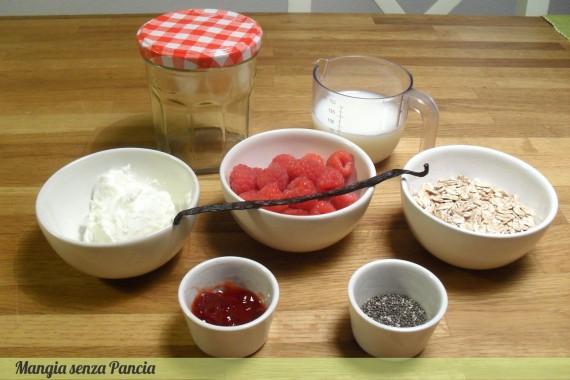 Porridge estivo lamponi e vaniglia, ricetta leggera, Mangia senza Pancia
