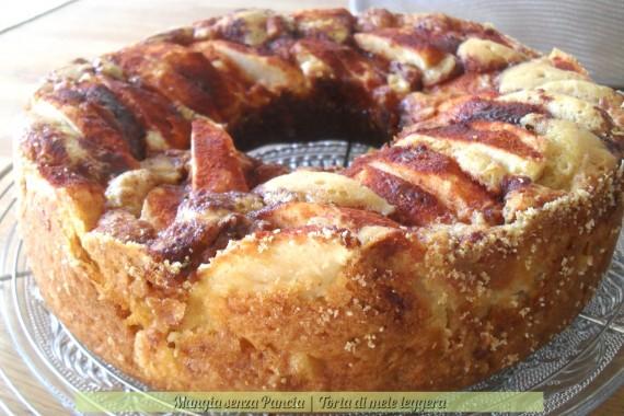 Torta di mele leggera, cotta con fornetto Versilia, ricetta dolce, Mangia senza Pancia