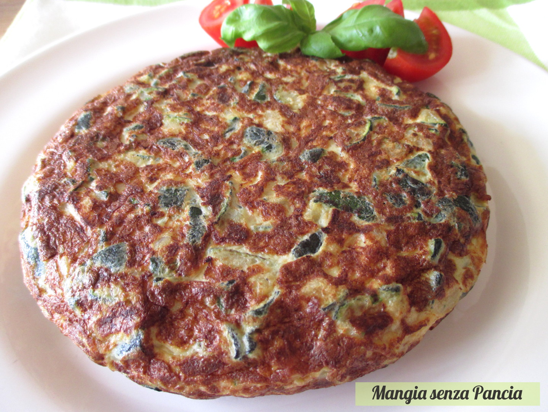 Frittata di zucchine light, ricetta vegetariana, Mangia senza Pancia