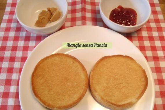 Fette con burro di arachidi e marmellata, PBJ sandwich, Mangia senza Pancia