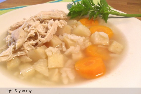 Minestrina riso e pollo, diario di una dieta - Giorno 408, Mangia senza Pancia