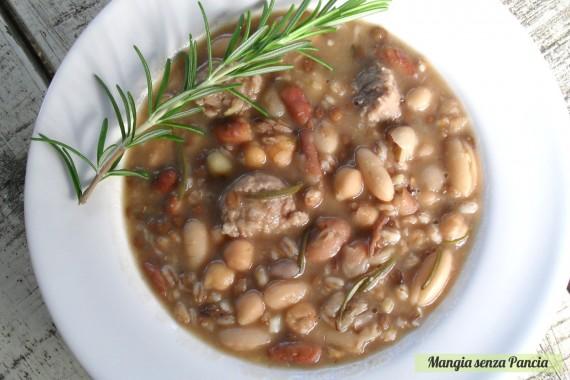 Zuppa di legumi e farro ricca, diario di una dieta - Giorno 410 - Pesata 54, Mangia senza Pancia