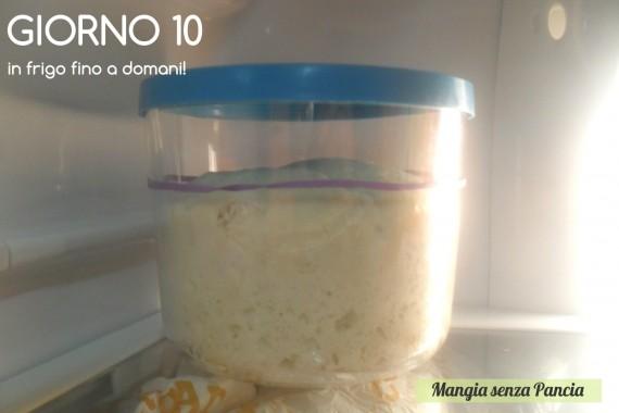 Pasta madre solida, giorno 10, diario di Cirilla, Mangia senza Pancia