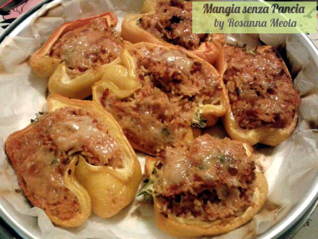 Peperoni ripieni light, ricetta fornetto Versilia, Rosanna in estense, Mangia senza Pancia