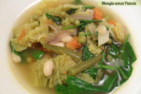 Minestrone leggero, ricetta vegetariana, diario di una dieta - Giorno 465, Mangia senza Pancia