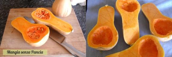 Zucca ripiena varietà butternut, ricetta light, Mangia senza Pancia