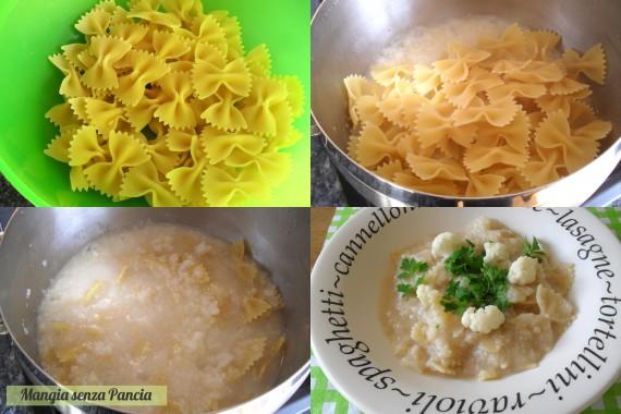 Pasta e cavolfiore leggera, ricetta vegetariana, Mangia senza Pancia