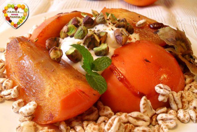 Cachi caramellato croccante, Mangia senza Pancia