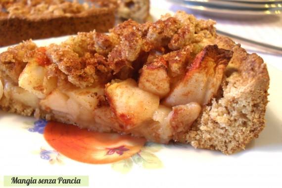 Torta di mele con crumble, diario di una dieta - Giorno 453, Mangia senza Pancia