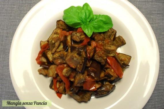 Melanzane a funghetto non fritte, ricetta light, Mangia senza Pancia