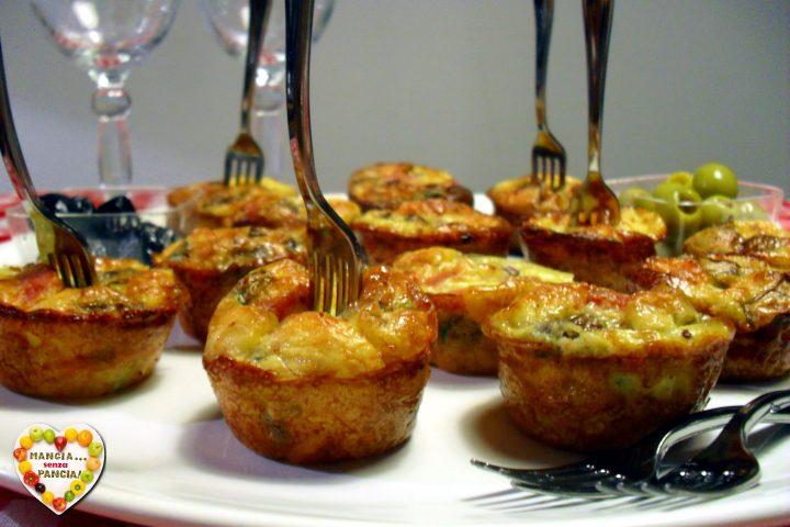 Frittatine con funghi al forno, Mangia senza Pancia