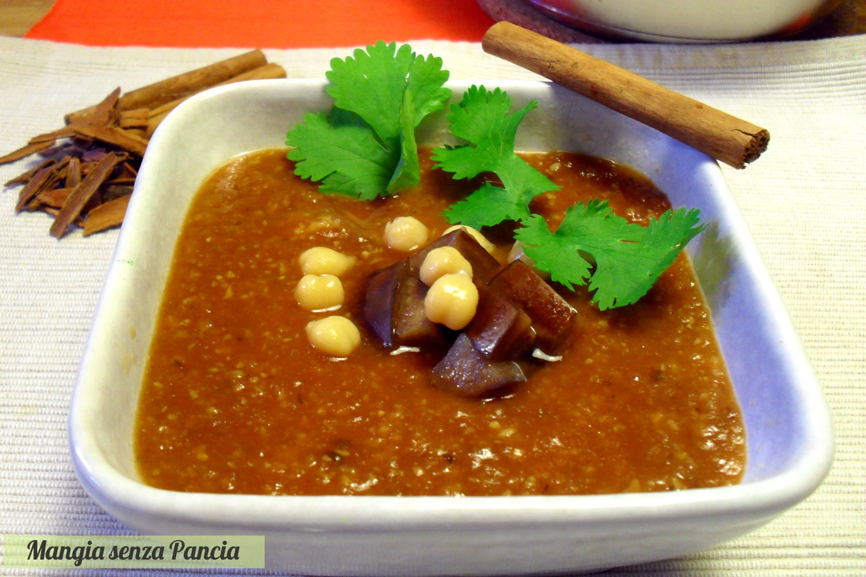 Zuppa araba di ceci e melanzane, ricetta vegana