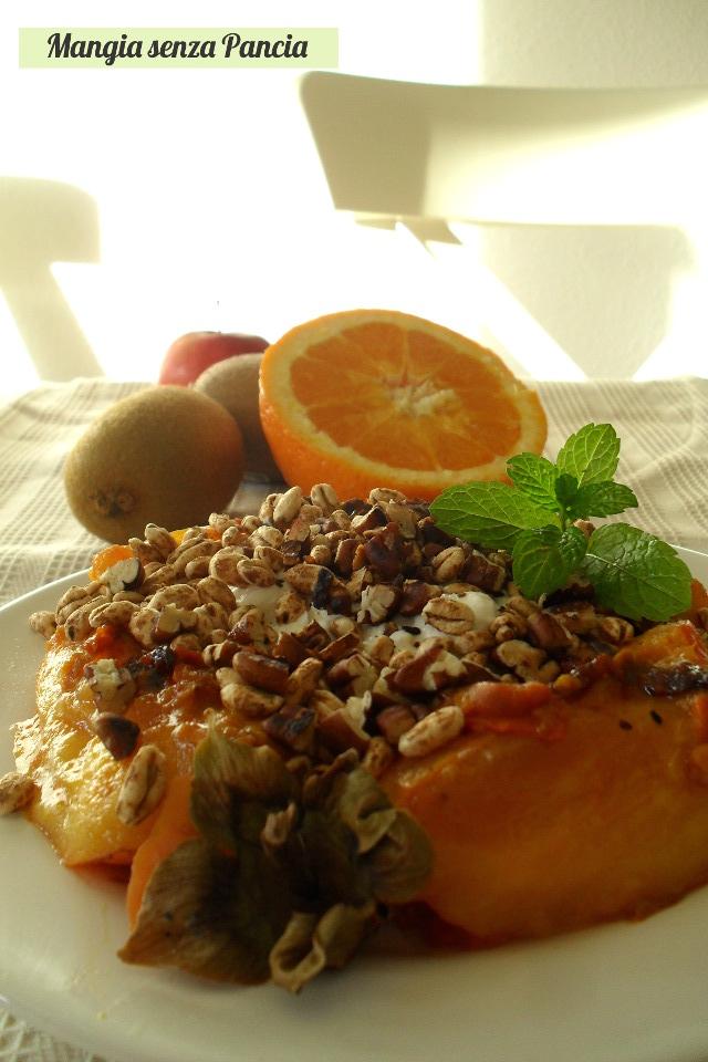 Cachi all'arancia con yogurt e noci, diario di una dieta - Giorno 456, Mangia senza Pancia