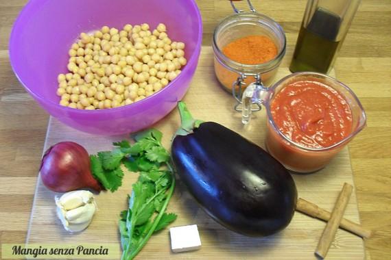 Zuppa araba di ceci e melanzane, ricetta vegana, Mangia senza Pancia