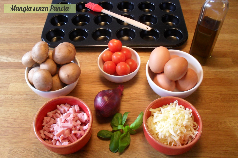 Frittatine con funghi al forno, finger food, Mangia senza Pancia