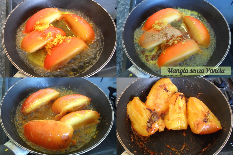 Cachi caramellato croccante, ricetta leggera, Mangia senza Pancia