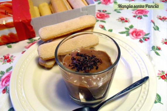 Crema al cioccolato light, ricetta senza uova, Mangia senza Pancia