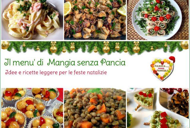 Menu leggero Natale e feste, raccolta di ricette leggere, Mangia senza Pancia