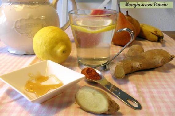 Limone pepe di cayenna e zenzero: tisana depurativa, oltre la dieta: il diario - 4 febbraio 2014, Mangia senza Pancia
