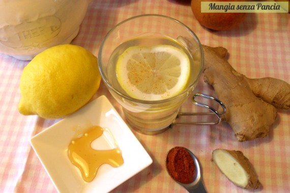 Limone pepe di cayenna e zenzero: tisana depurativa, oltre la dieta: il diario - 3 marzo 2014, Mangia senza Pancia