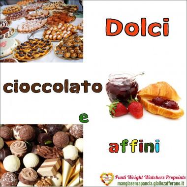Punti Weight Watchers Dolci Cioccolato e affini, Mangia senza Pancia
