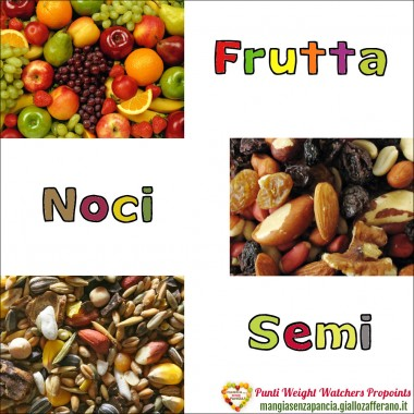Punti WW Frutta Noci e Semi, Mangia senza Pancia