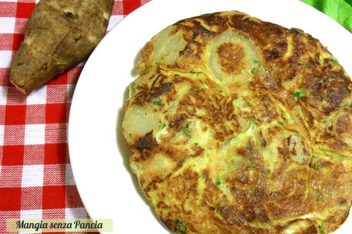 Frittata di topinambur light, ricetta vegetariana, Mangia senza Pancia