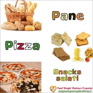 Punti WW Pane Pizza e Snack salati, Mangia senza Pancia