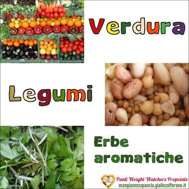 Punti WW Verdura Legumi e Erbe aromatiche, Mangia senza Pancia