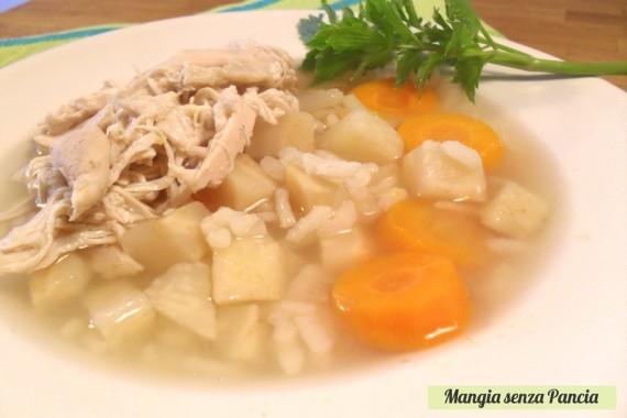 Minestra pollo e riso, ricetta leggera, oltre la dieta: il diario - 7 febbraio 2014, Mangia senza Pancia