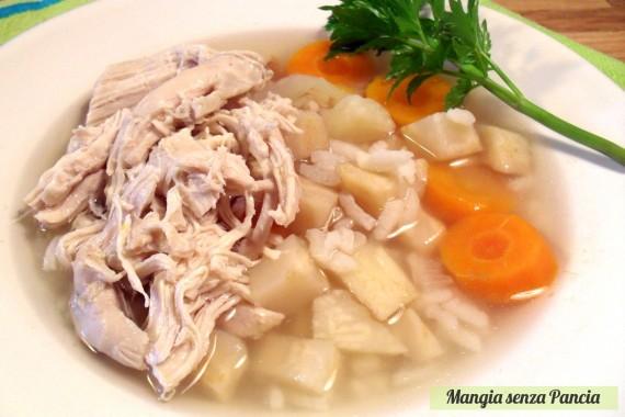 Minestra pollo e riso, diario di una dieta - Giorno 464, Mangia senza Pancia