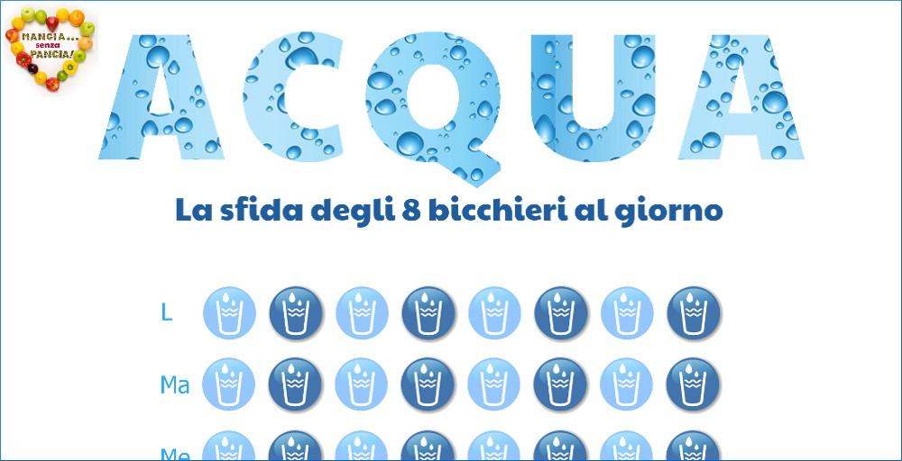 Bere acqua: la sfida degli 8 bicchieri al giorno, Mangia senza Pancia