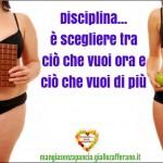 Principi base della dieta, disciplina è scegliere, Mangia senza Pancia