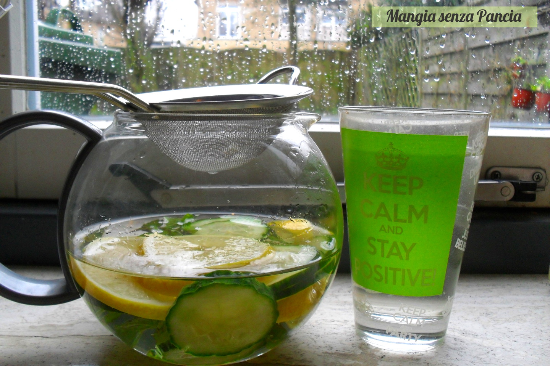 limone e acqua cetrioli