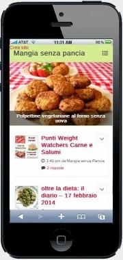 msp su smartphone, oltre la dieta: il diario - 18 febbraio 2014, Mangia senza Pancia