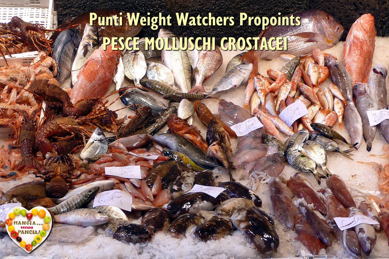 Punti Weight Watchers Pesce Molluschi Crostacei Mangia Senza Pancia