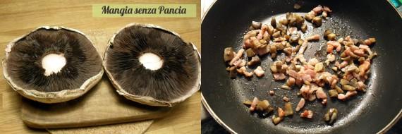 Funghi ripieni gratinati light, Mangia senza Pancia