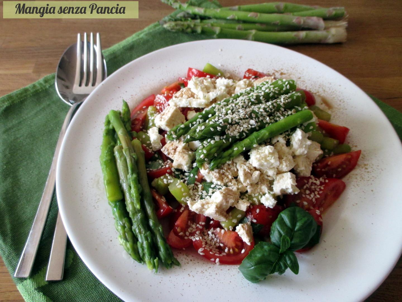 Asparagi pomodorini e feta all'insalata, Mangia senza Pancia