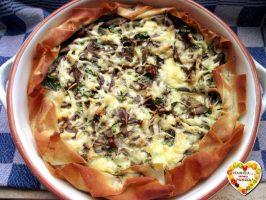 Quiche di carciofi e formaggio leggera