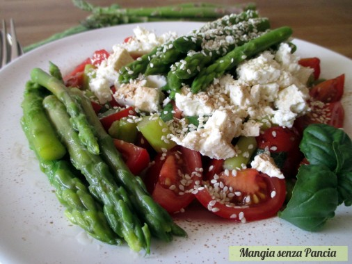 Asparagi pomodorini e feta all'insalata, oltre la dieta: il diario - 2 aprile 2014, Mangia senza Pancia