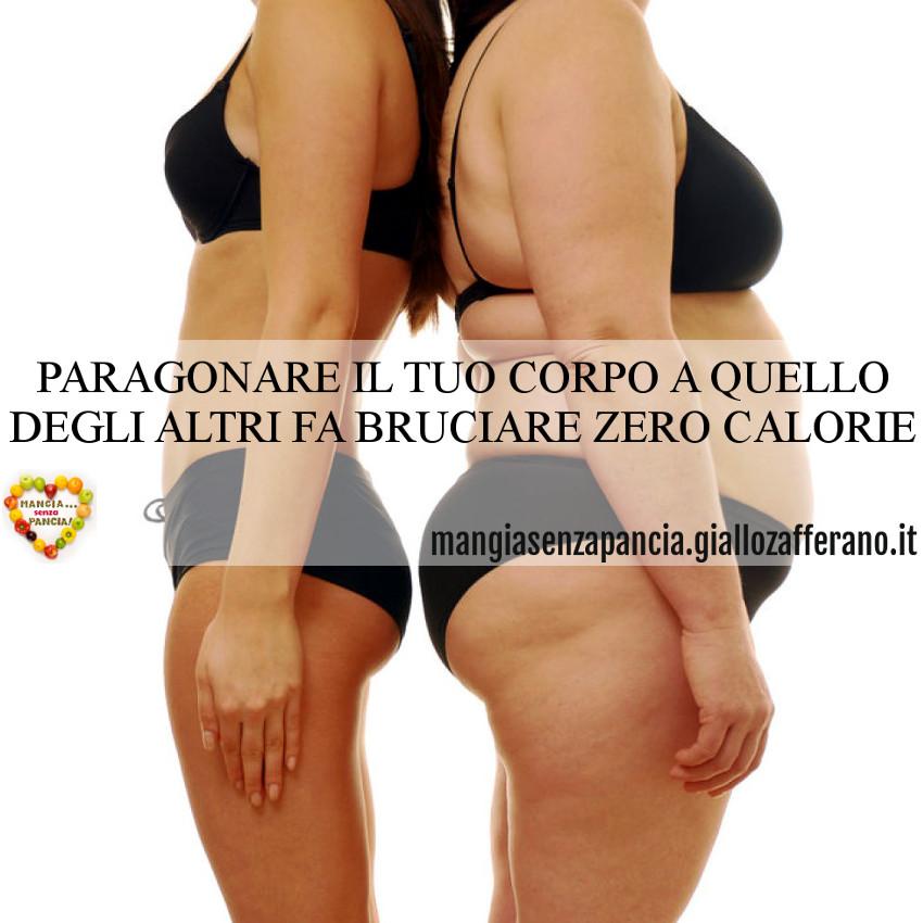 paragonare corpo zero calorie, motivational, oltre la dieta: il diario - 27 marzo 2014, Mangia senza Pancia