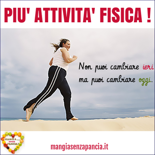Attività fisica: informazioni e tabella Punti Weight Watchers, Mangia senza Pancia