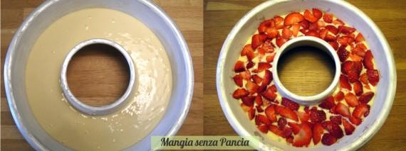 Ciambellone alle fragole senza grassi, ricetta senza olio o burro, Mangia senza Pancia