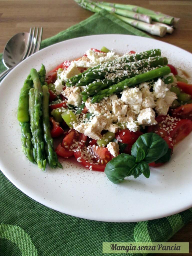 Asparagi pomodorini e feta all'insalata, oltre la dieta: il diario - 30 marzo 2014, Mangia senza Pancia