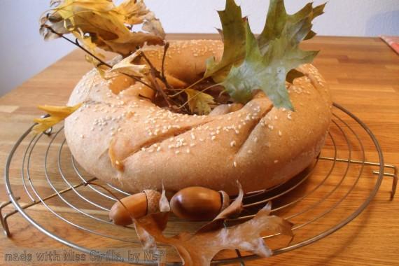 Ruota di pane con pasta madre nel fornetto Versilia, Mangia senza Pancia