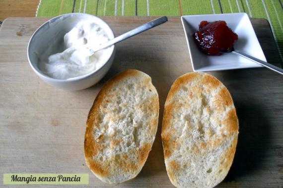 Pane ricotta e marmellata, ricetta veloce, Mangia senza Pancia